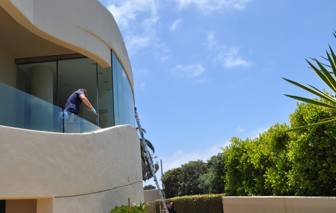 Rancho santa fe window washing clear view window for Window washing